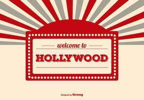 Välkommen till Hollywood Illustration vektor
