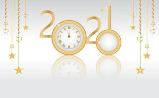 Neujahrskarte mit 2020 wird 2021 vektor