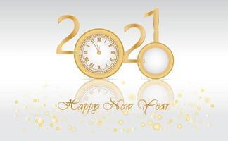 Neujahrsdesign mit 2020 wird 2021