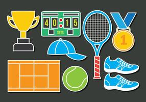 Tennis ikoner vektor