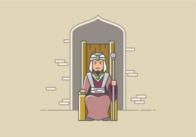 Großer Sultan sitzt im Thron