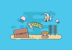 Gratis havsbotten illustration