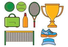 Set Tennis Icons vektor