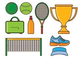 Ställ av tennis ikoner vektor