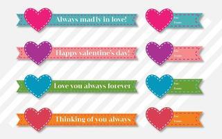 Valentinstag Vektor-Bänder vektor