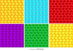 Geometriska hjärtor vektor mönster
