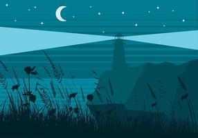 Meer Hafer Nacht Nacht Vektor