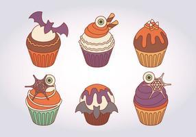 Halloween-Vektor-Cupcakes vektor