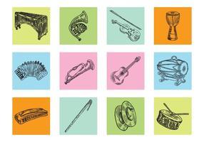 Handdragen musikinstrument