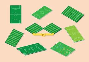 Gratis fotbollsplan vektor