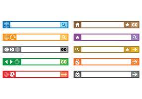 Set von Adressleisten-Vektoren