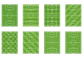 Set von Fußball Boden Vektor