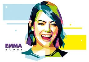 Emma stein - hollywood leben - wpap vektor