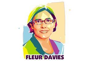 Fleuer Davies - Wissenschaftlerleben - Popart Porträt vektor