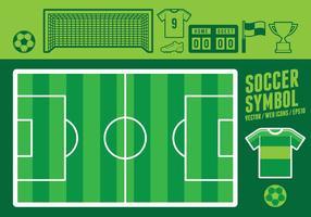 Ikoner för fotbollsymbols webben vektor
