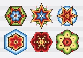 Huichol mönstercenter vektor