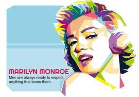 Marilyn Monroe - Hollywood Leben - WPAP vektor
