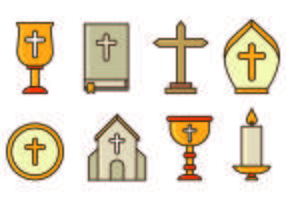 Set of Holy Week Icons vektor