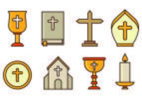 Set von heiligen Woche Icons vektor