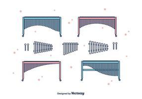 Marimba vektor uppsättning