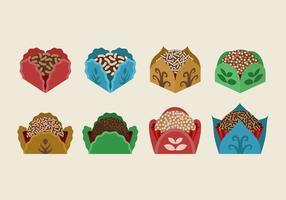Brigadier braun Cookies Farbe Feld Vektor-Illustration