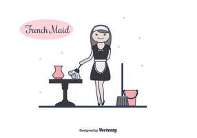 Französisch Maid Vektor