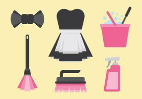 Gratis Fransk Maid Icons Vector