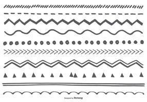Niedliche Sketchy Borders Collection vektor