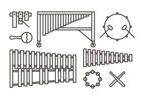 Marimba musik ikoner