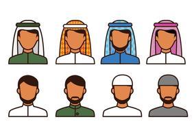 Kostenlose Moslem Avatar Icons vektor