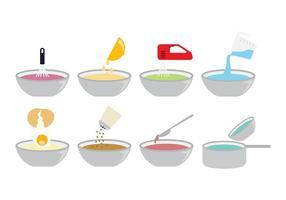 Matlagning ikoner vektor