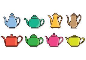 Set von Teekanne Icons
