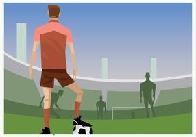 Fotbollsspelare redo att frispark vektor