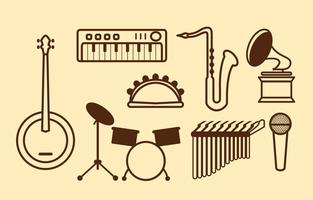 Freie Musik-Vektor-Ikone vektor