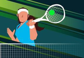 Frau Tennis Spieler vektor