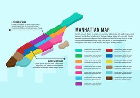 Gratis Manhattan Karta Infographic vektor