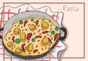 Paella spanisches Essen vektor