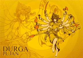 Göttin Durga Illustration vektor