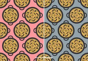 Paella Vektor Muster