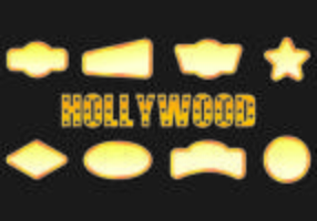Icon von Hollywood Lights vektor
