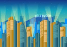 Hintergrund von Hollywood Lights vektor