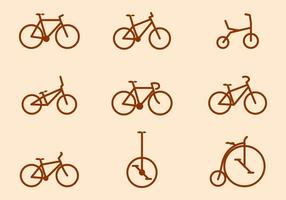 Gratis cykel vektor samlingar