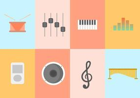 Kostenlose Musik-Vektor-Sammlung vektor