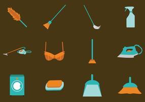 Franska Maid Tools-ikonen vektor