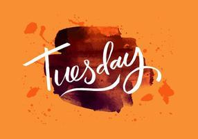 Tisdag Inky Akvarell vektor