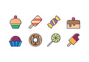 Süßigkeiten und Goody Linear Icons