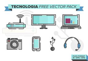 Tecnologia kostenlos vektor pack