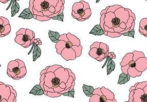 Vackert Camellias Mönster vektor