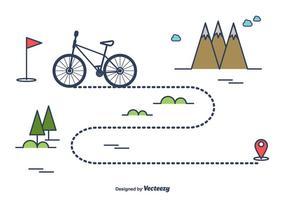 Cykelvägvektor