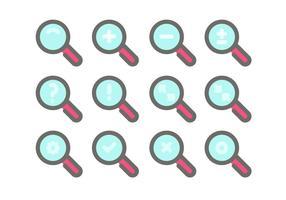 Lupa Icon Vektor Sets
